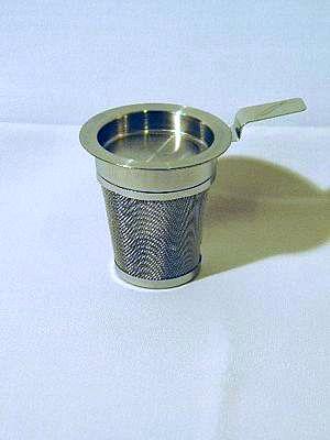 Edelstahl-Teefilter mit Abtropfschale IV